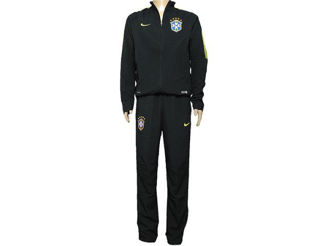 Abrigo Masculino Nike 575699-337 Cbf Squad Sdln Wup Verde Escuro/limão