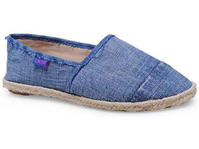 Alpargatas Feminina Liker 281 Cor Jeans