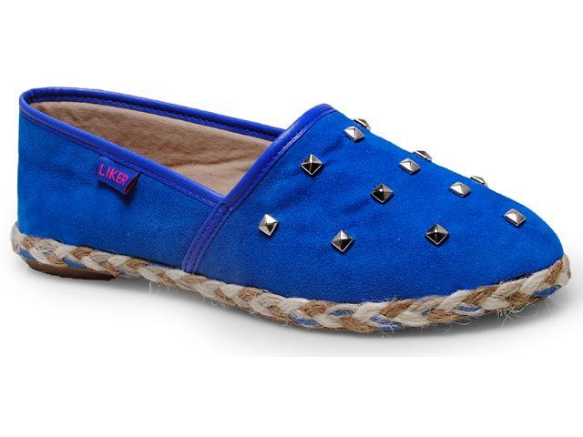 Alpargatas Feminina Liker 160 Azul Royal