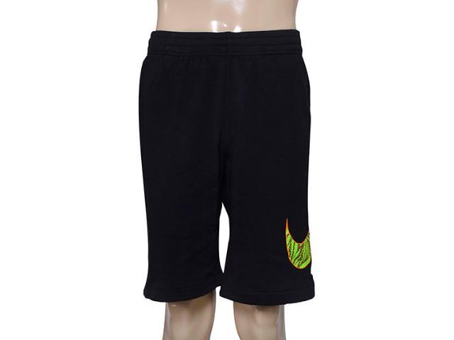 Bermuda Masculina Nike 727782-010 Club ft Shrt-tpcl Strm  Preto