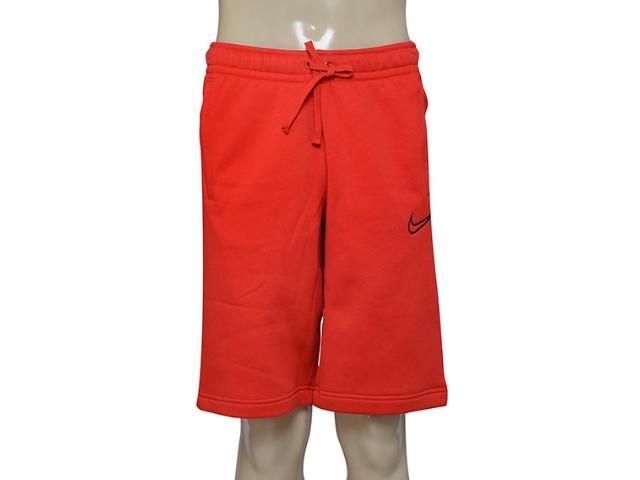 Bermuda Masculina Nike 804703-657 m Nsw Flc gx  Vermelho