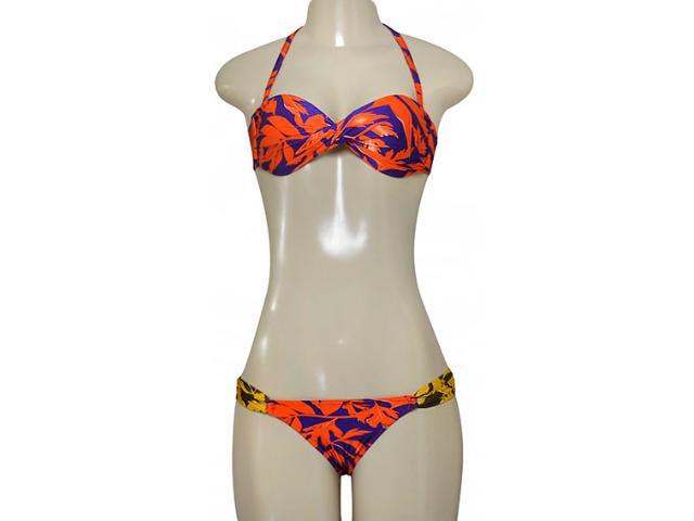 Biquíni Feminino Cia Maritima 377872 Roxo/laranja