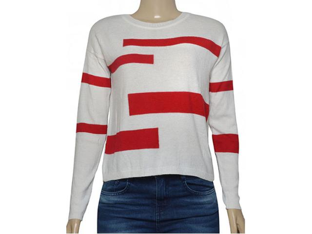 Blusa Feminina Borda Barroca 1001248 Off White/merlot