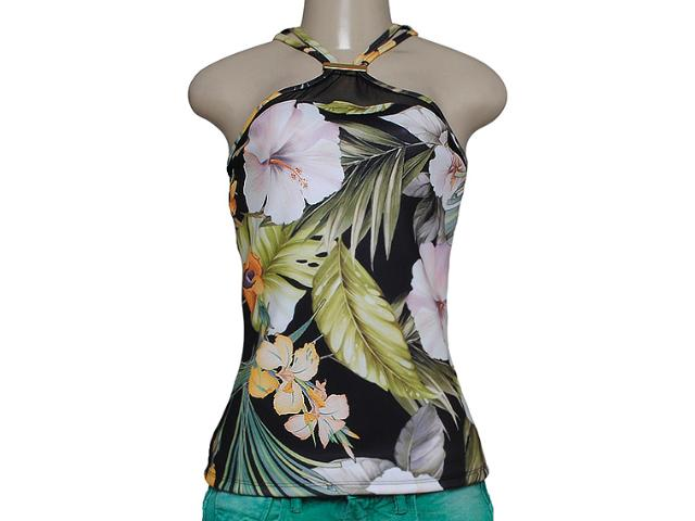 Blusa Feminina Coca-cola Clothing 363203055 Preto Floral