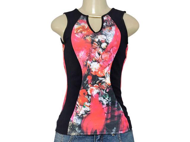 Blusa Feminina Coca-cola Clothing 363203164 Preto Floral