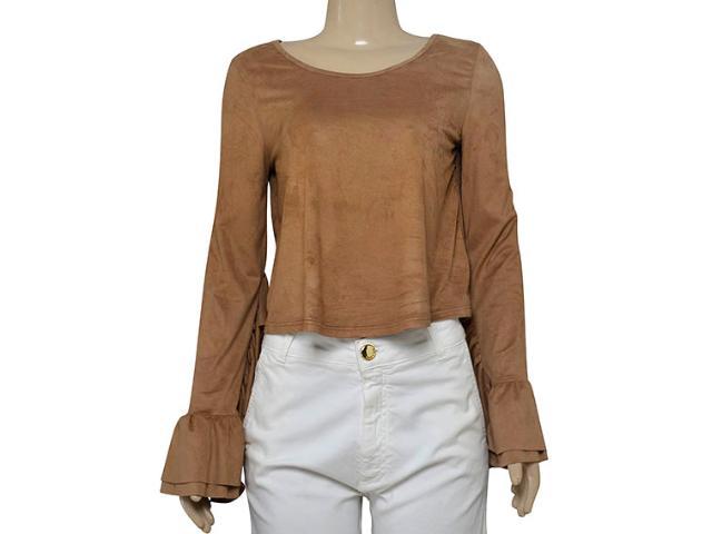 Blusa Feminina Coca-cola Clothing 363203318 Bege Escuro