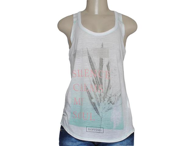 Blusa Feminina Dopping 015758551 Off White/verde