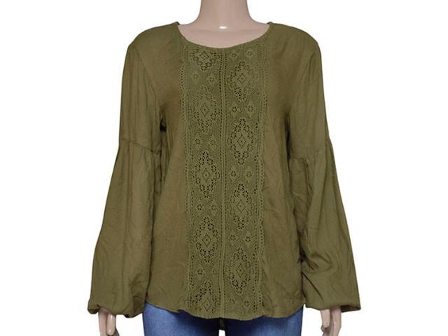 Blusa Feminina Dopping 015663013 Verde Militar