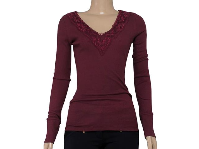 Blusa Feminina M.officer 116306058 Bordo