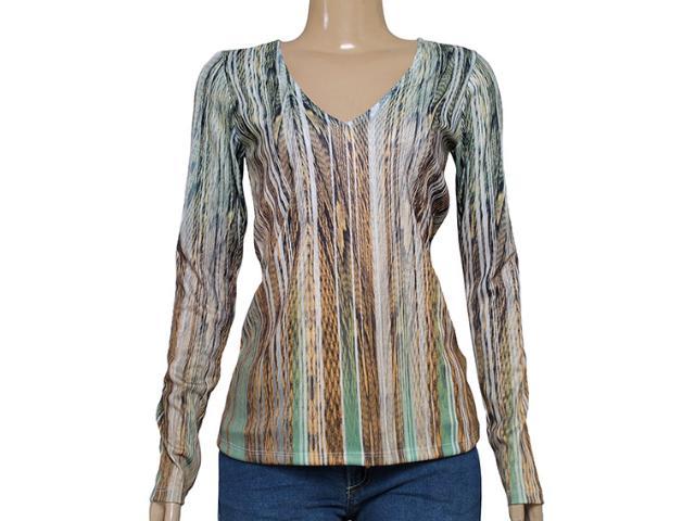 Blusa Feminina Maria Valentina 103162 Estampado Verde