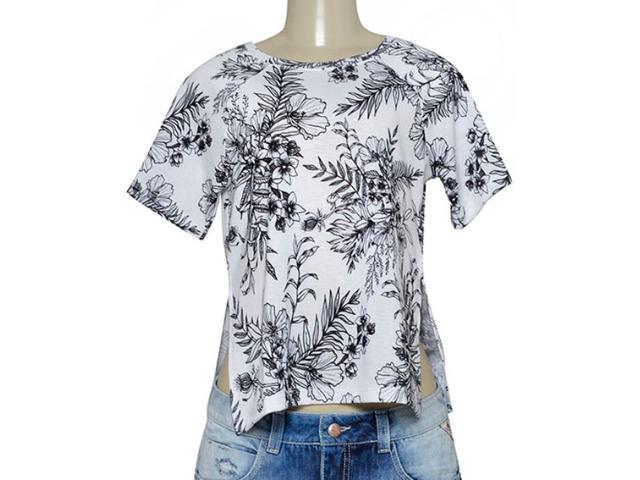 Blusa Feminina Morena Rosa 105330 Estampado Preto/branco