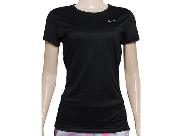 Blusa Feminina Nike 519829-010 Miler ss Preto