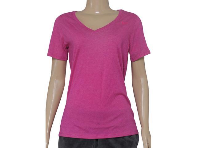 Blusa Feminina Nike 694363-694 Vneck Dfc ss  Pink