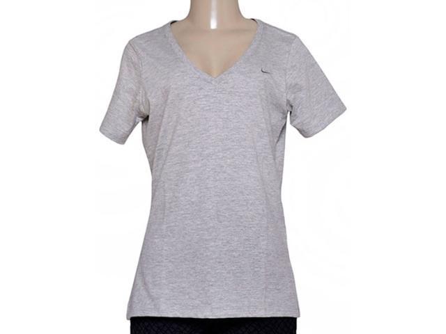 Blusa Feminina Nike 704298-063 Embroidered Swoosh  Cinza