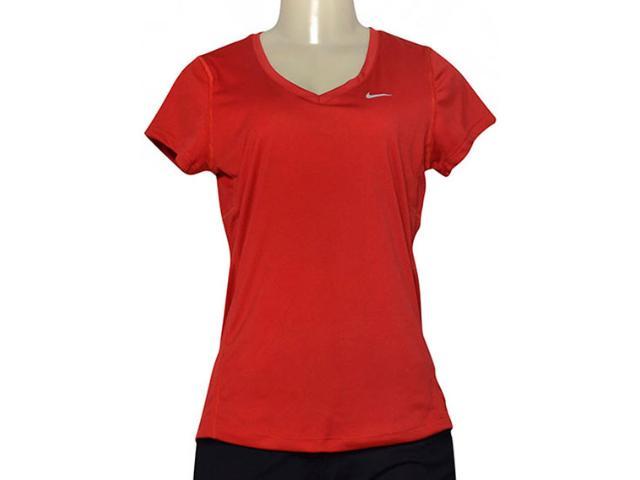 Blusa Feminina Nike 686917-687 Miler V-neck Vermelho