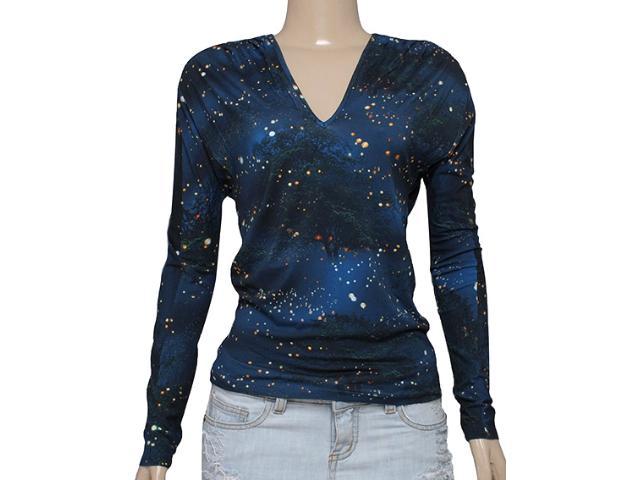 Blusa Feminina Triton 361402144 Estampado Azul