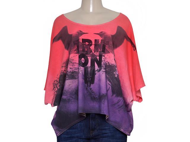 Blusa Feminina Triton  361402324 Coral/roxo