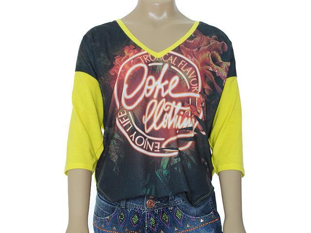 Blusa Feminina Coca-cola Clothing 343200772 Estampado Amarelo