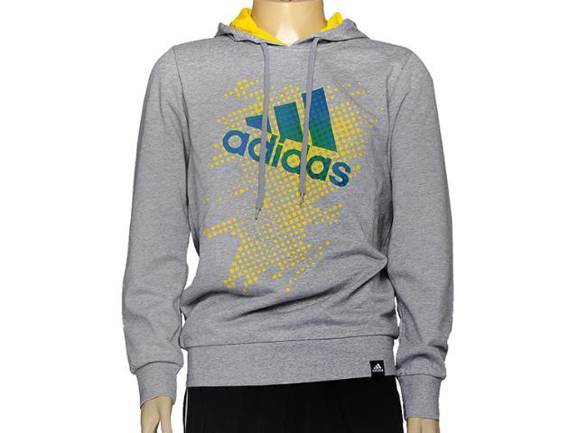 Blusão Masculino Adidas D89096 Hood Perf Mescla
