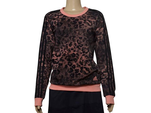 Blusão Feminino Adidas Ce0596 w Ess Aop sw Preto/coral