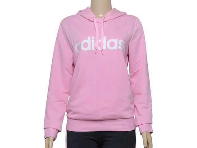 Blusão Feminino Adidas Du0644  w e Lin Rosa/branco