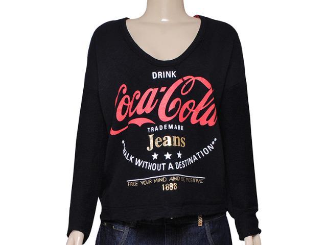 Blusão Feminino Coca-cola Clothing 403200211 Preto