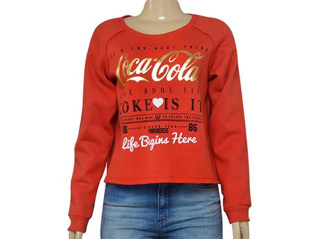Blusão Feminino Coca-cola Clothing 403200247 Vermelho