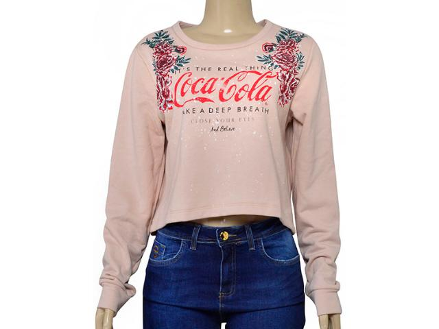 Blusão Feminino Coca-cola Clothing 403200307 Rose