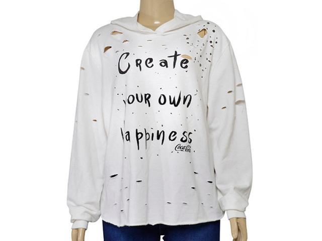 Blusão Feminino Coca-cola Clothing 403200303 Off White