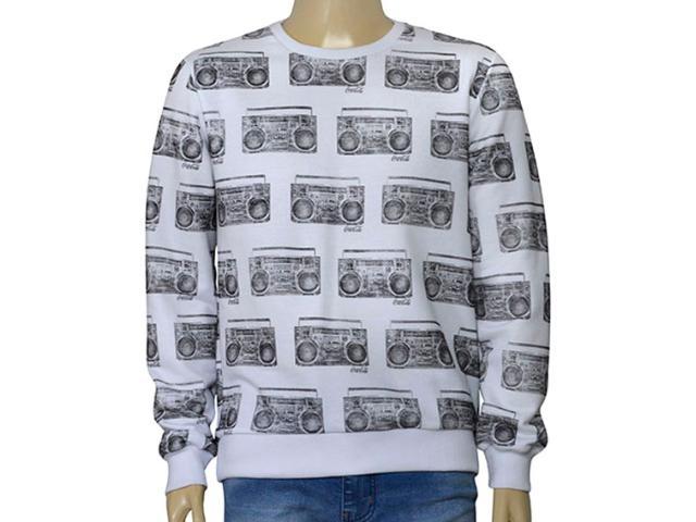 Blusão Masculino Coca-cola Clothing 415200019 Var1 Branco/preto