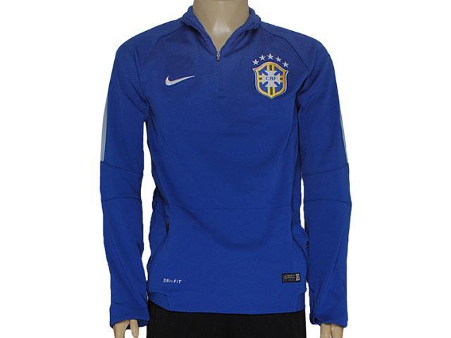 Blusão Masculino Nike 575701-493 Cbf Squad ls Midlayer Azul