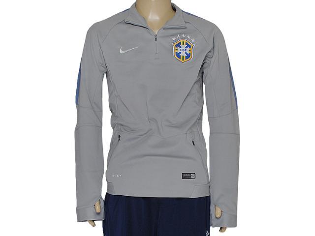 Blusão Masculino Nike 575701-001 Cbf Squad ls Midlayer Cinza