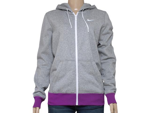 Blusão Feminino Nike 611719-066 Club fz Hoody Swoosh Mescla/roxo