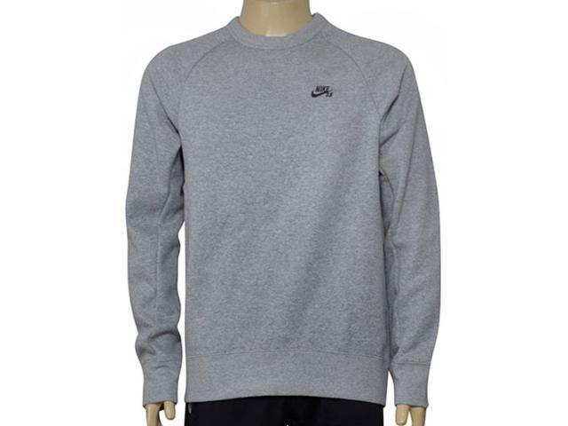 Blusão Masculino Nike  800153-063 sb Icon Crew Fleece Mescla