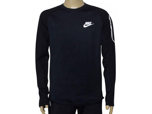 Blusão Masculino Nike 886792-010 m Nsw Av15 Top Flc Preto