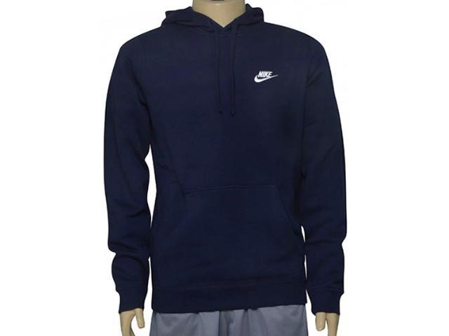 Blusão Masculino Nike 804346-451 Sportswear Hoodie Marinho