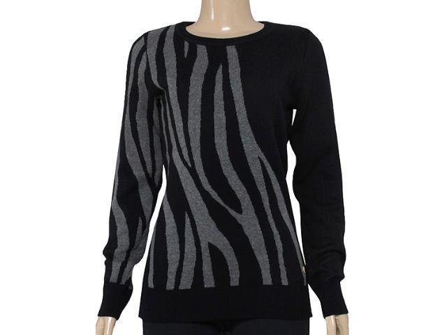 Blusão Feminino Zanatta 25041 Preto Zebra