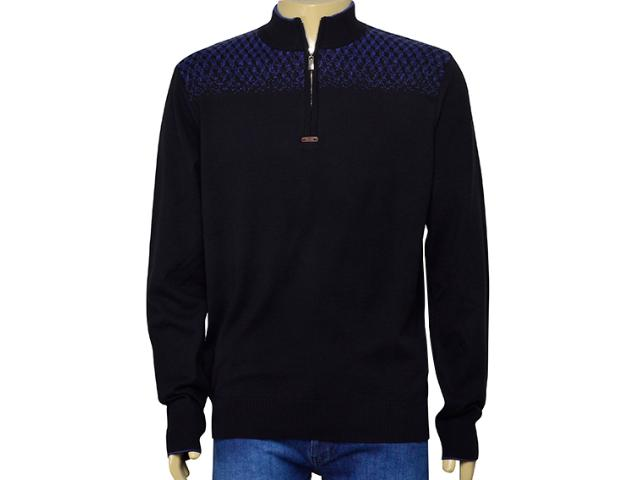 Blusão Masculino Zanatta 5603 Preto/azul