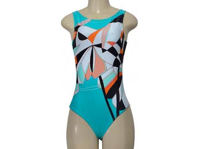 Body Feminino Cia Maritima 2969 282 Verde Color