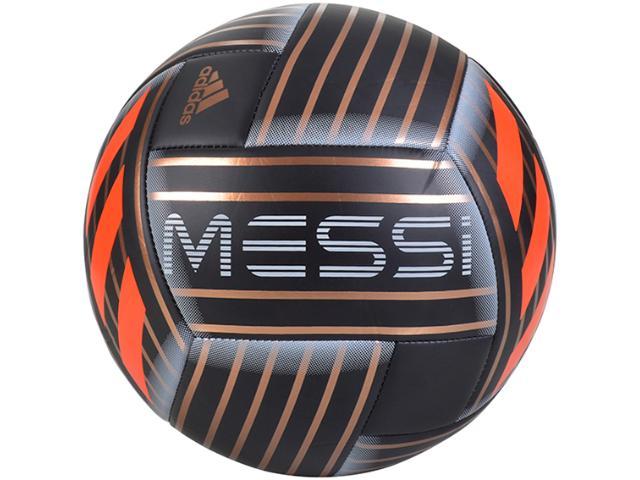 Bola Masculina Adidas Cf1279 Messi q1 Preto/dourado/laranja