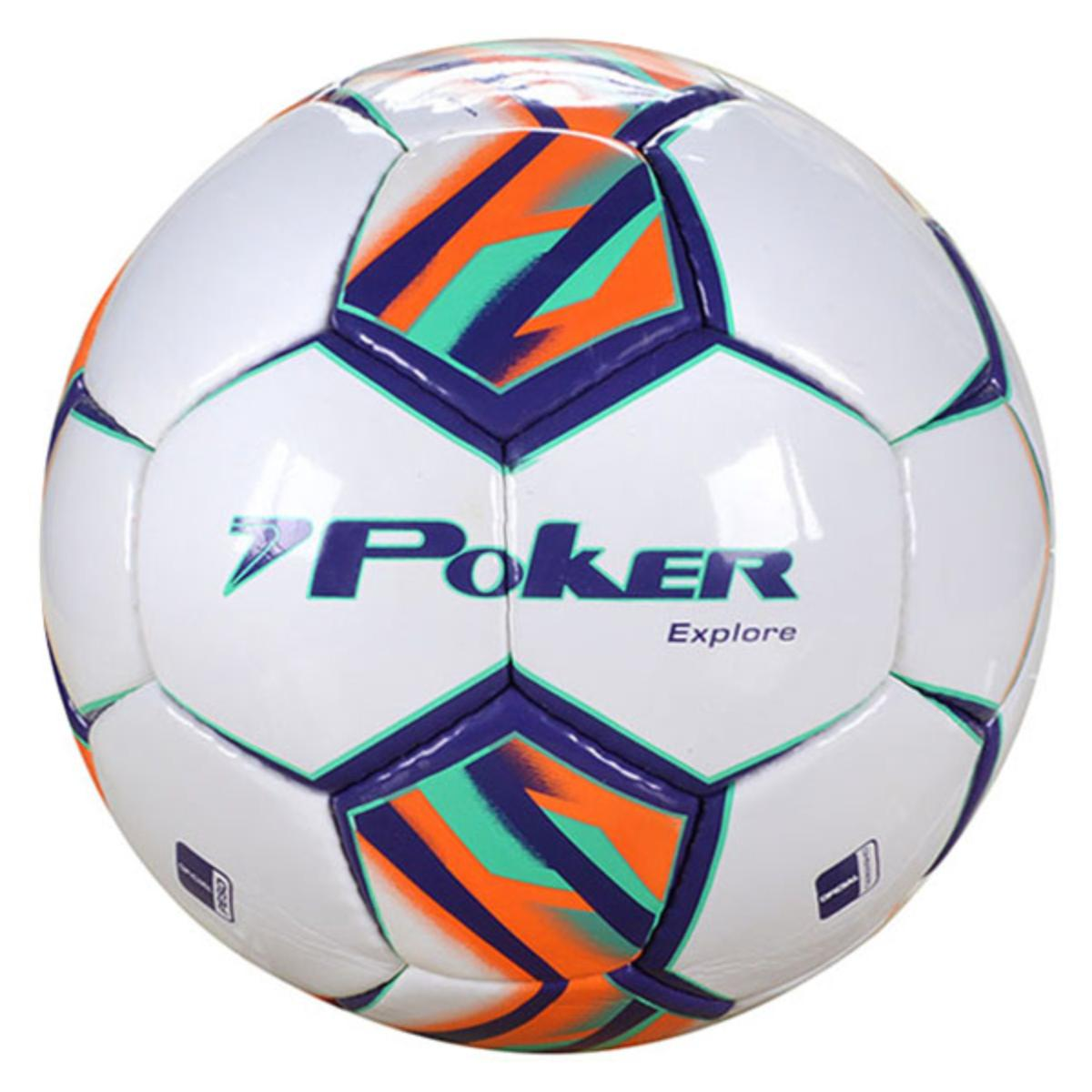 Bola Unisex Poker 05768 Branco/roxo/laranja/verde