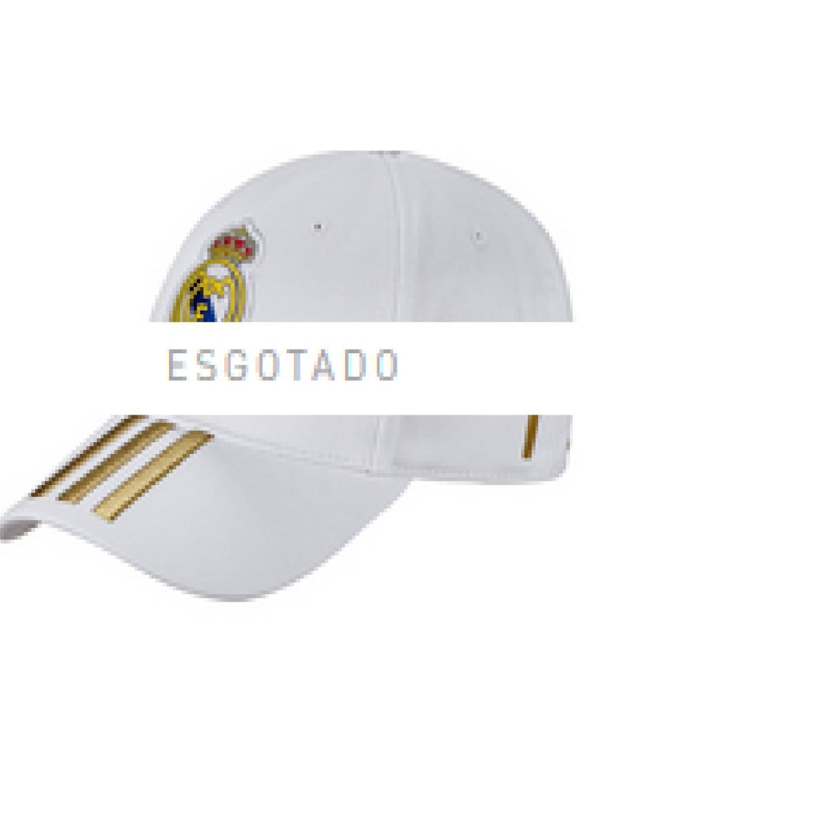 Boné Masculino Adidas Dy7720 Real C40 Cap Branco/dourado