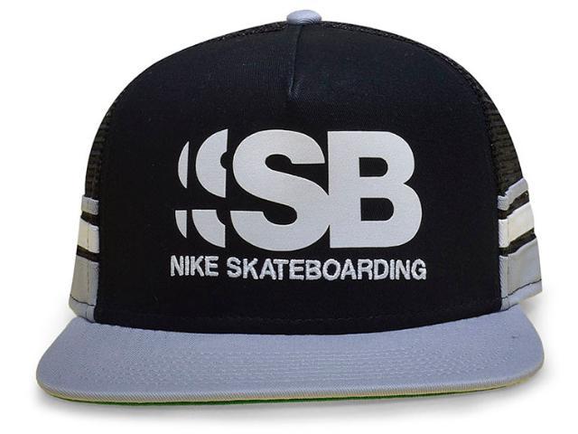 Boné Masculino Nike 805025-010 sb Cut Trucker Preto/cinza