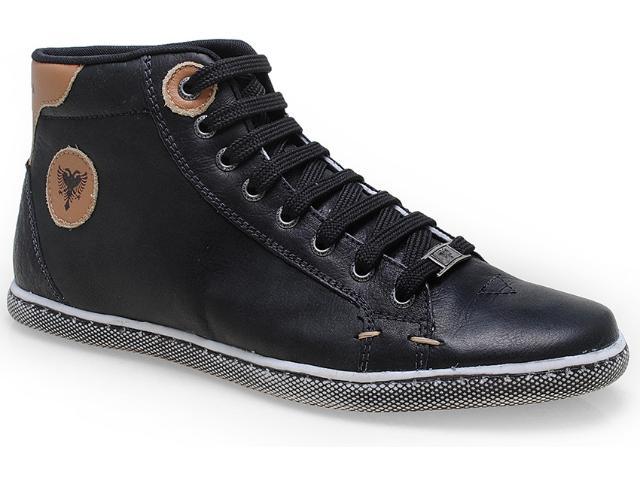 Tênis Masculino Cavalera Shoes 13.01.0917 Preto/caramelo