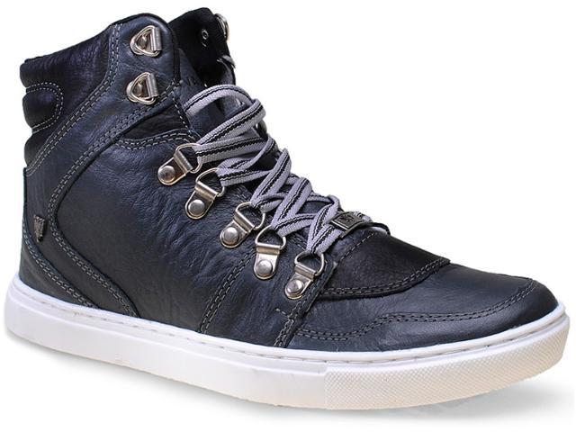 Bota Masculina Cavalera Shoes 13.01.1193 Cinza Envelhecido/preto