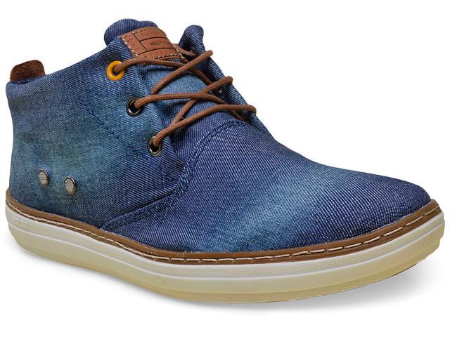 Bota Masculina West Coast 118617/1 Jeans/wisky