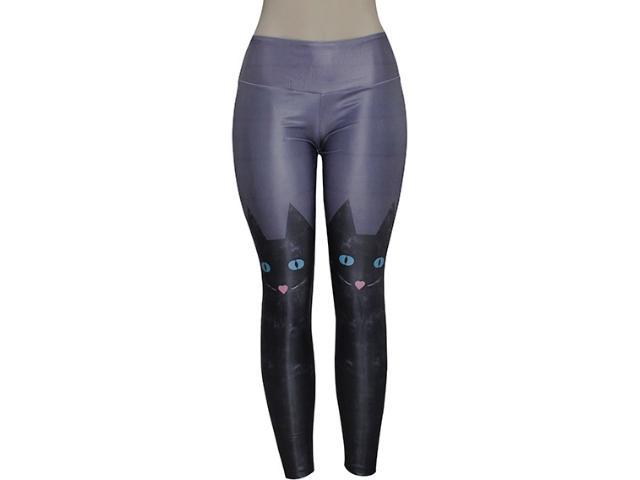 Calça Feminina Alto Giro 48338 Cinza Metalizado