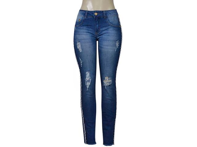 Calça Feminina Kacolako 27805 Jeans Estonado