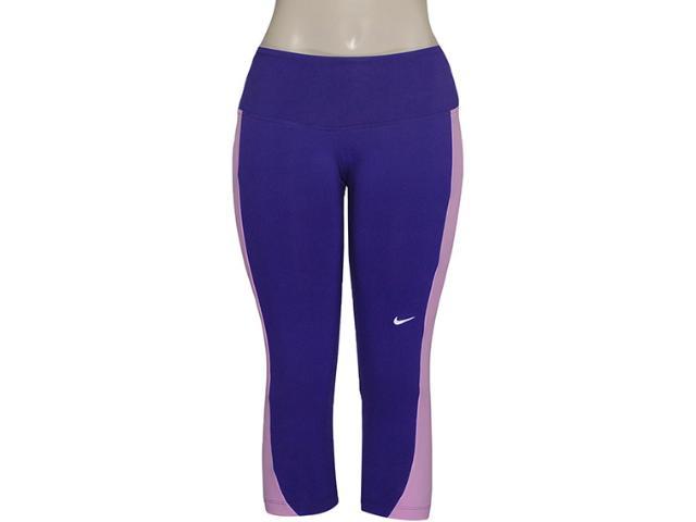 Calça Feminina Nike 446156-547 Foldover Tight  Roxo/rosa