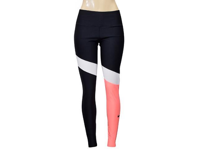 Calça Feminina Nike 891926-010 w nk Pwr Poly Vnr sg Preto/branco/laranja